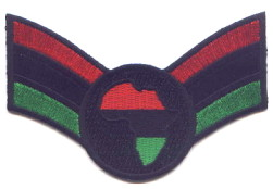 "Embroidered Patches 3.5/""x2.25/"" iron-on 3 Pcs Rasta Africa Fist RBG"