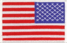 """G 25 Pcs USA American Flag Embroidered Patches 3.5/""""x2.25/"""" iron-on"""
