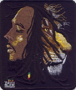 """Jamaica BOB Lion Embroidered Patches 3.5/""""x3/"""""""